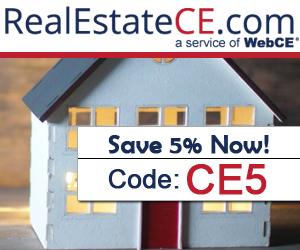 RealEstateCE - real estate license renewal banner