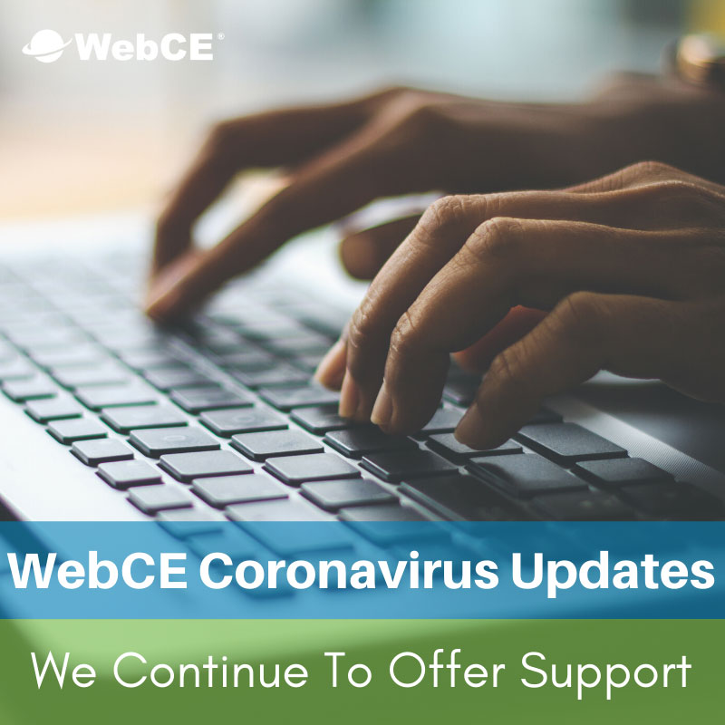 WebCE: Coronavirus Updates