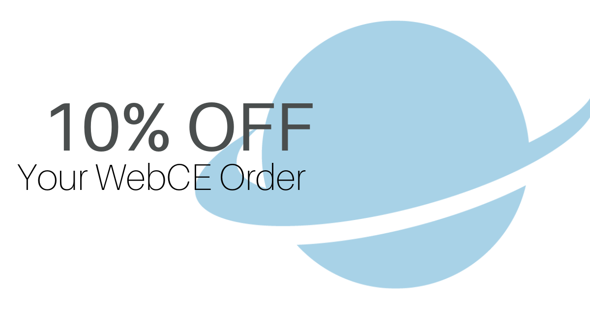 10% Off WebCE Coupon Continuing Education