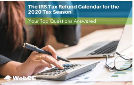 The IRS Tax Refund Calendar for the 2020 Tax Season