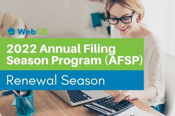 2022 Annual Filing Season Program (AFSP) Renewal Season