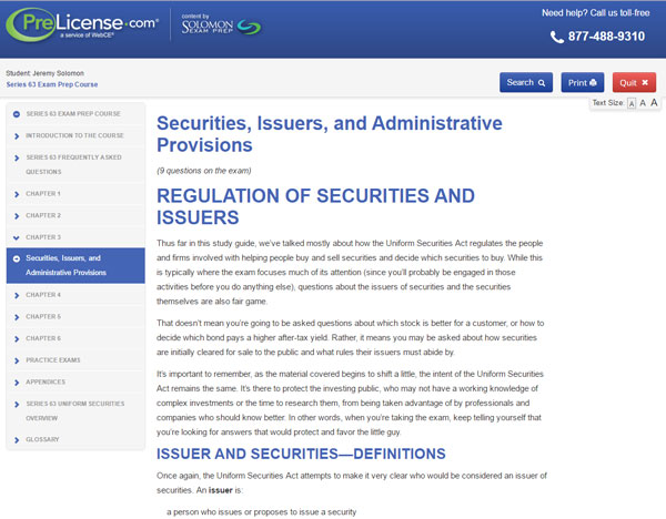 Securities Exam Prep Study Guide