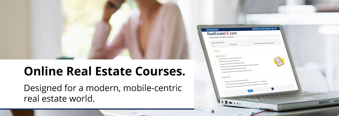 Real Estate continuing education built for a fast-paced, mobile-centric world!