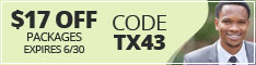 Texas coupon code TX43