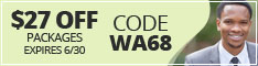Washington coupon code WA68