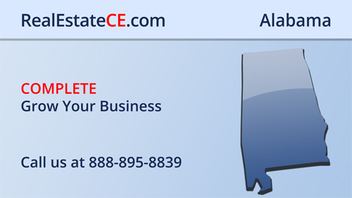 Alabama Real Estate Commission Approved Online CE real estate continuing education package course video image