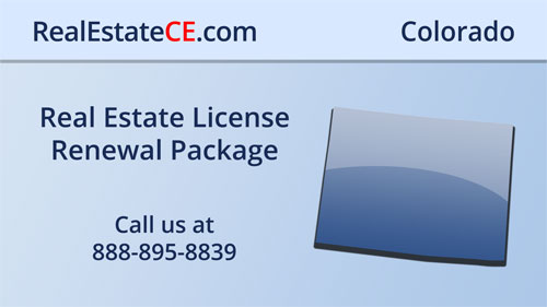 Colorado Real Estate License Renewal Courses real estate continuing education package course video image