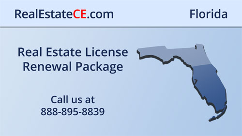 Florida Continuing Education: Sales and Brokers Renewal Package real estate continuing education package course video image