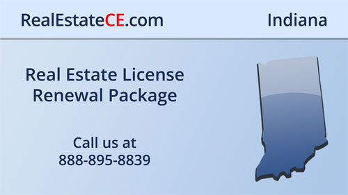 Indiana Real Estate License Renewal CE Courses real estate continuing education package course video image