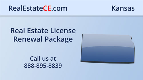 Kansas Real Estate Commission Approved Online CE real estate continuing education package course video image