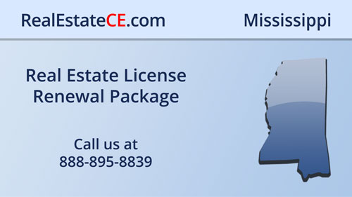 Mississippi Real Estate License Renewals Are Easy When Completing This CE Package real estate continuing education package course video image
