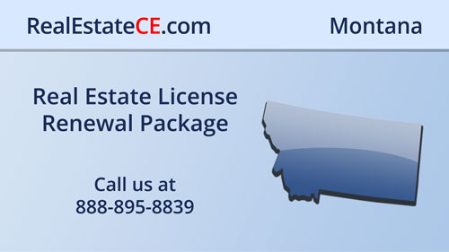 Montana Real Estate Commission Approved Online CE Provider real estate continuing education package course video image