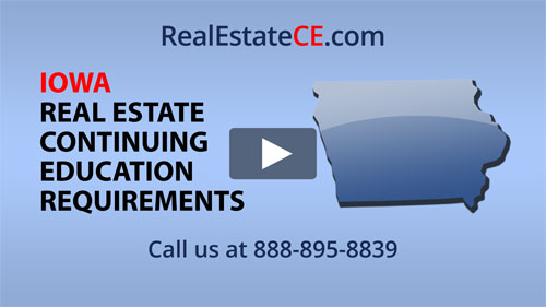 Iowa real estate state renewal requirements image
