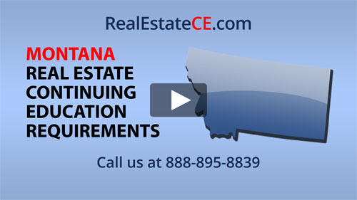 Montana real estate state renewal requirements image