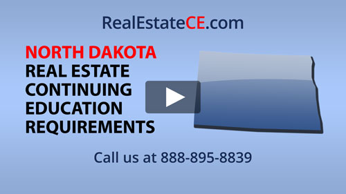 North Dakota real estate state renewal requirements image