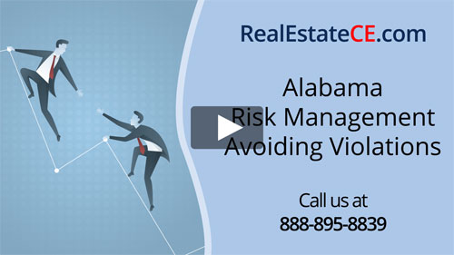 Alabama real estate license renewal course video image