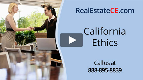 California real estate license renewal course video image