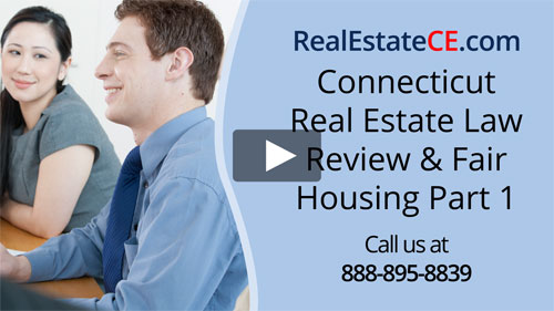 Connecticut real estate license renewal course video image