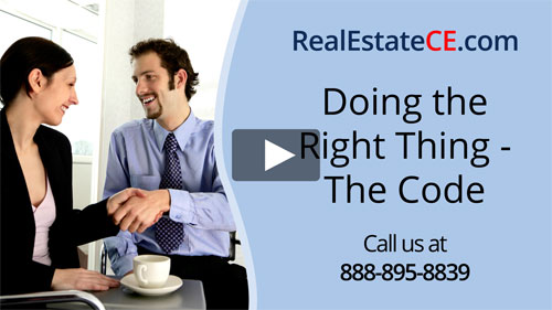 Washington real estate license renewal course video image