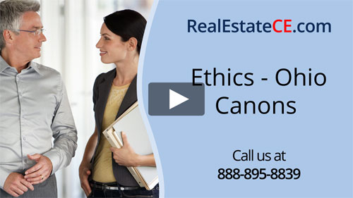 Ohio real estate license renewal course video image
