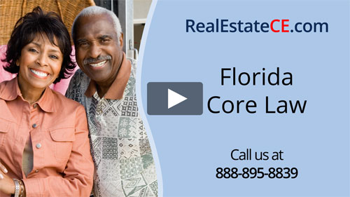 Florida real estate license renewal course video image