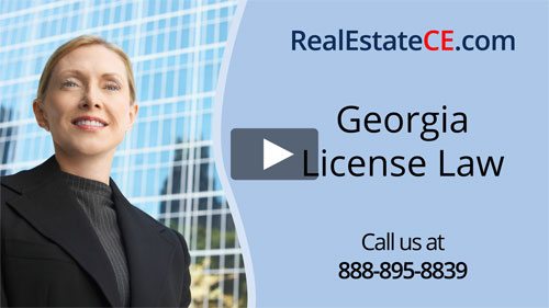 Georgia real estate license renewal course video image