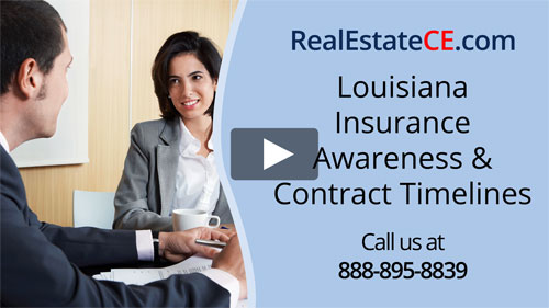 Louisiana real estate license renewal course video image