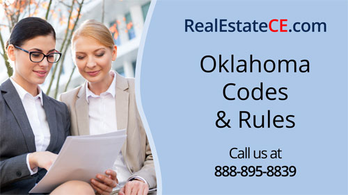 Oklahoma real estate license renewal course video image