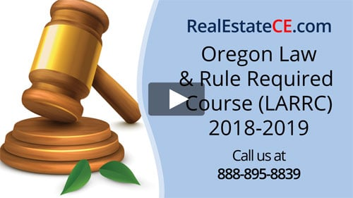 Oregon real estate license renewal course video image