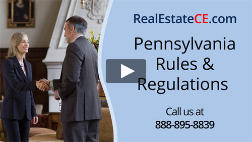 Pennsylvania real estate license renewal course video image