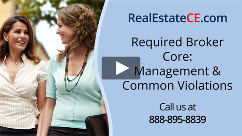 Indiana real estate license renewal course video image