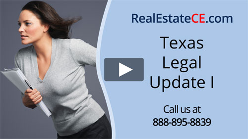 Texas real estate license renewal course video image