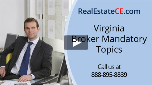 Virginia real estate license renewal course video image